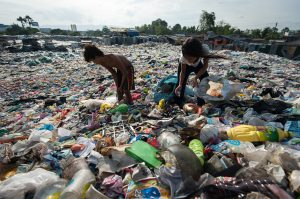 werken op de vuilnisbelt